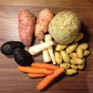 Gemüsechips-Zutaten
