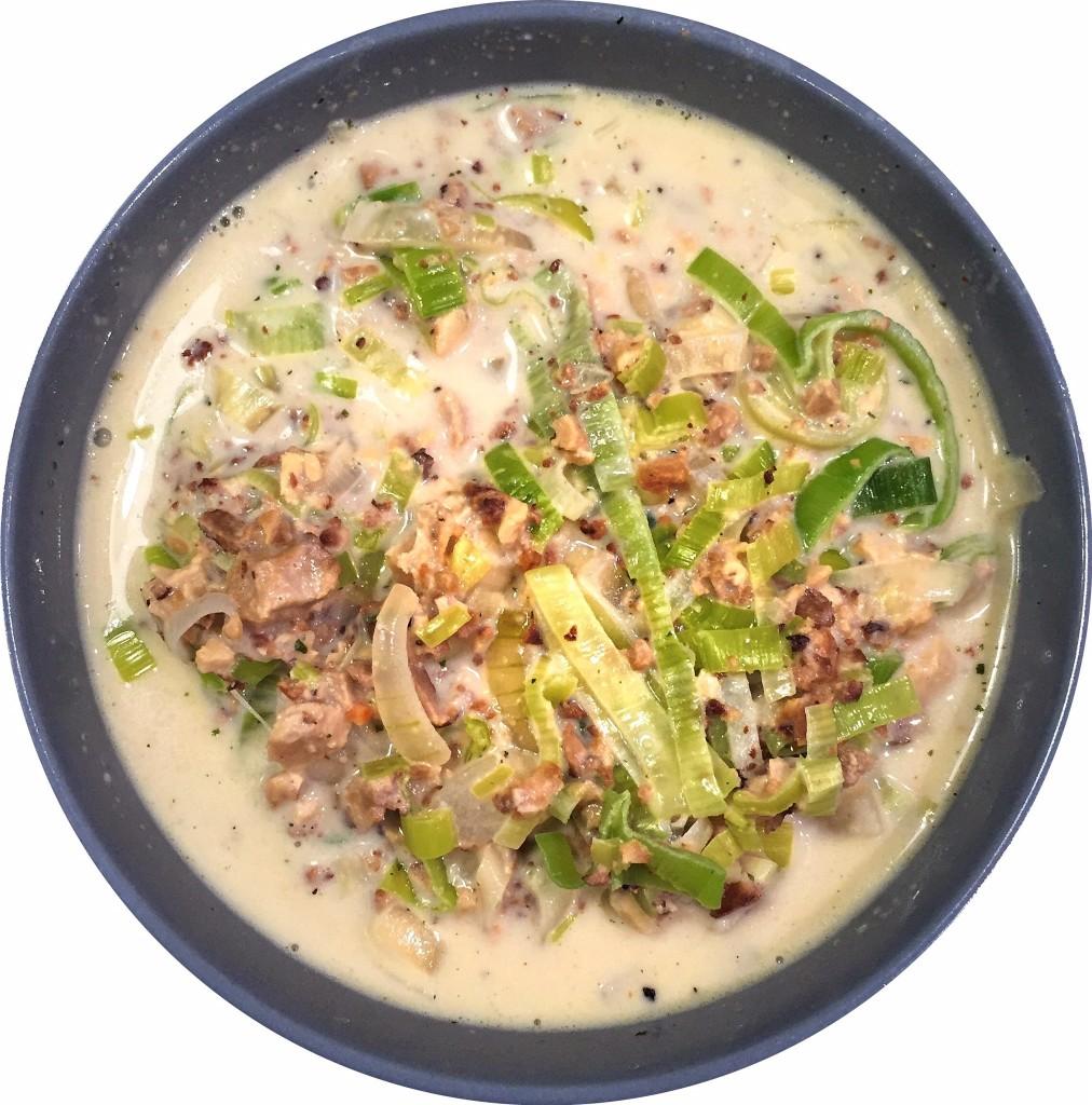 Lauchcremesuppe vegetarisch
